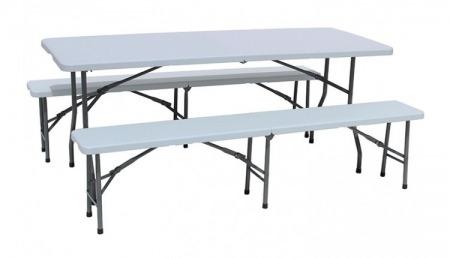 Ensemble Table Et 2 Bancs Pliants 182 Cm Meuble Dévènement