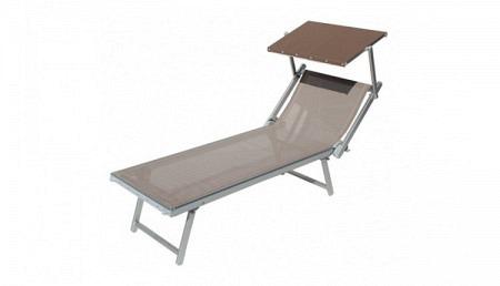 Chaise longue professionnelle avec pare soleil mosquito - Chaise longue avec pare soleil ...